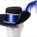 hoed musketier met gekleurde band in blauw of rood of goud320x240