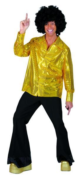 disco shirt gold maat 48-50