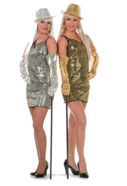 jurk-pailletten-goud en zilver