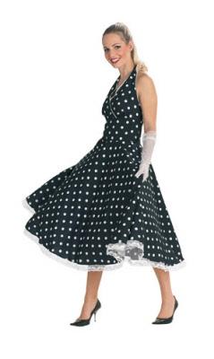 petticoat-jurk zwart en roze
